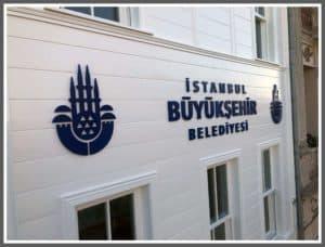 İstanbul Büyükşehir Belediyesi Cephe Tabela