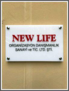 New Life Yönlendirme Panosu