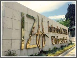 İstanbul Zaim Üniversitesi Paslanmaz Kutu Harf